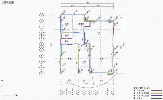 1階平面図/補強前